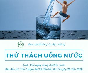 Thử thách 7 ngày uống nước